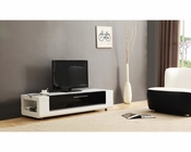 Modern TV Console in High Gloss White BM-633-WHT