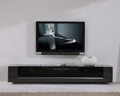 Modern TV Console with Black Glass BM-632-GRY