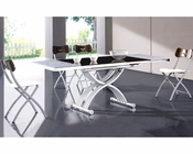 Modern Two Tone Dining Set European Design 33D251