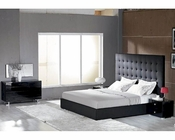 Modern Upholstered Black Bedroom Set Made in Italy 44B4611B