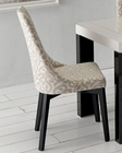 Modern Upholstered Dining Chair Made in Spain Zara 33222ZR (Set of 2)