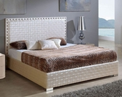 Modern Upholstered Storage Bed Made in Spain Trenzado 33141TE