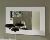 Modern Wall Mirror Valencia in White Made in Spain 33B246