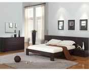 Modern Wenge Finish Platform Bedroom Set Made in Italy 44B4511