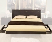 Modern Wenge Finish Storage Bed Made in Italy 44B1712