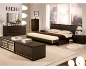 Modern Wenge Finish Storage Bedroom Set Made in Italy 44B4511