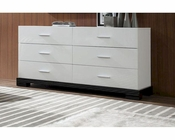 Modern White 6-Drawer Dresser 44B204DM