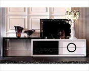 Modern White and Black Crocodile TV Stand 44ENT532-180