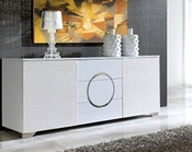 Modern White Buffet Cruz European Design Made in Spain 33D84