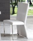 Modern White Dining Chair Cruz European Design Spain 33D83 (Set of 2)