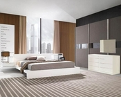 Modern White Finish Bedroom Set Made in Italy 44B111W