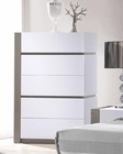 Modern White Finish Chest 44B178CH