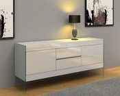Modern White Floating Buffet 44DWHT-SB