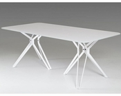Modern White Glass Dining Table 44D6105DT