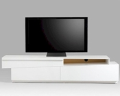 Modern White Gloss Lacquer TV Stand 44ENT068-WHT