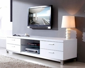 Modern White High Gloss Media Console BM120-WHT