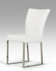 Modern White Leatherette Dining Chair 44D838-WHT (Set of 2)