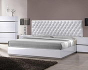 Modern White Tufted Bed 44B178BD