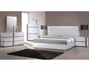 Modern White Tufted Bedroom Set 44B178SET