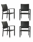 Modway Bella Patio Chairs in Espresso MY-EEI-939 (Set of 4)