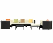 Modway Bonaire Sectional Set in Espresso MY-EEI-958 (9 pc)