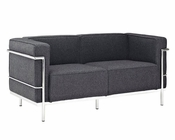 Modway Charles Grande Loveseat in Dark Gray MY-EEI-282