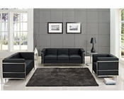 Modway Charles Petite Sofa Set in Black MY-EEI-920 (3 pc)