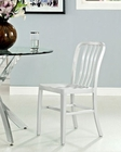 Modway Deck Dining Side Chair in Silver MY-EEI-1190