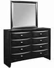 Modway Harrison Dresser w/ Mirror in Black MY-MOD-5075