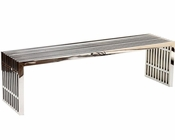 Modway Large Gridiron Stainless Steel Bench MY-EEI-570