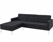 Modway Loft Left-Arm Sectional Sofa in Dark Gray MY-EEI-1047