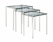 Modway Nimble Nesting Table in Silver MY-EEI-257