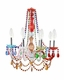 Modway Palace Acrylic Chandelier in Multicolored MY-EEI-317