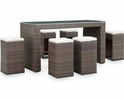 Modway Patio Cubed Pub Set in Brown/ White MY-EEI837BW