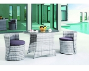 Modway Patio Ellipse Dining Set in White MY-EEI734