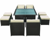 Modway Patio Inverse Dining Set in Espresso MY-EEI726