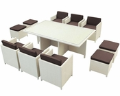 Modway Patio Reversal Dining Set in Tan/ Brown MY-EEI644TB
