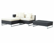 Modway Patio Sectional Set in Espresso White MY-EEI-997 (4 pc)