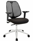 Modway Reverb AdjusTable Armrests Office Chair in Black MY-EEI-1173