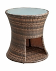 Modway Strum Patio Side Table in Brown MY-EEI-1002