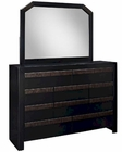 Modway Tommy Dresser w/ Mirror in Black MY-MOD-5116