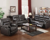 Motion Sofa Set in Dark Brown Neon by Acme Furniture AC50840SET