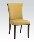 Mustard Finish Side Chair Jafar by Acme Furniture AC71534 (Set of 2)