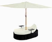 Nagoya Patio Dual Chaise in Espresso, White by Modway MY-EEI955EW