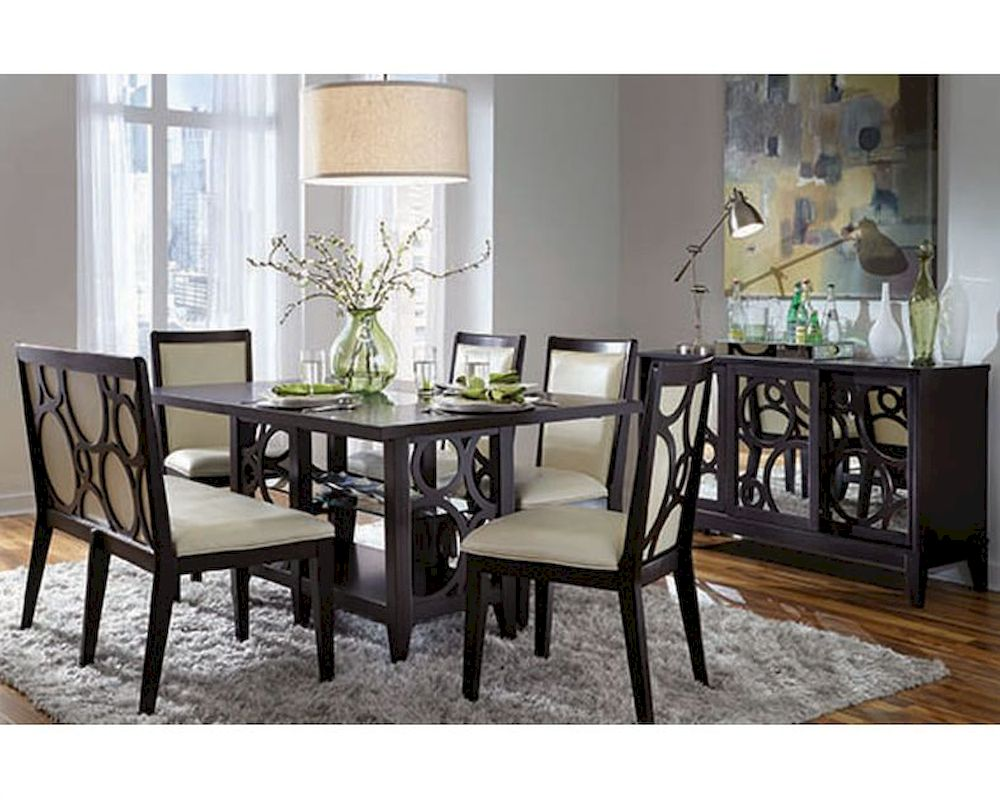 Najarian Formal Dining Set W Rectangle Wood Table Planet