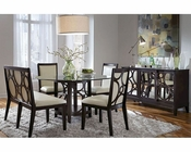 Najarian Formal Dining Set w/ Round  Table Planet NA-PL7SET