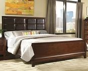 Najarian Furniture Bed with Upholstered Headboard Melrose NA-ME-UPBD