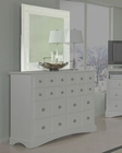 *Najarian Furniture Palazzo Bedroom Mirror in White NA-PAMRW