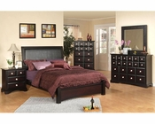 Najarian Furniture Palazzo Bedroom Set in Ebony Finish NA-PA3SETE