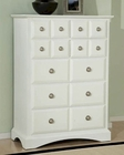 Najarian Furniture Palazzo Chest in White NA-PACHW